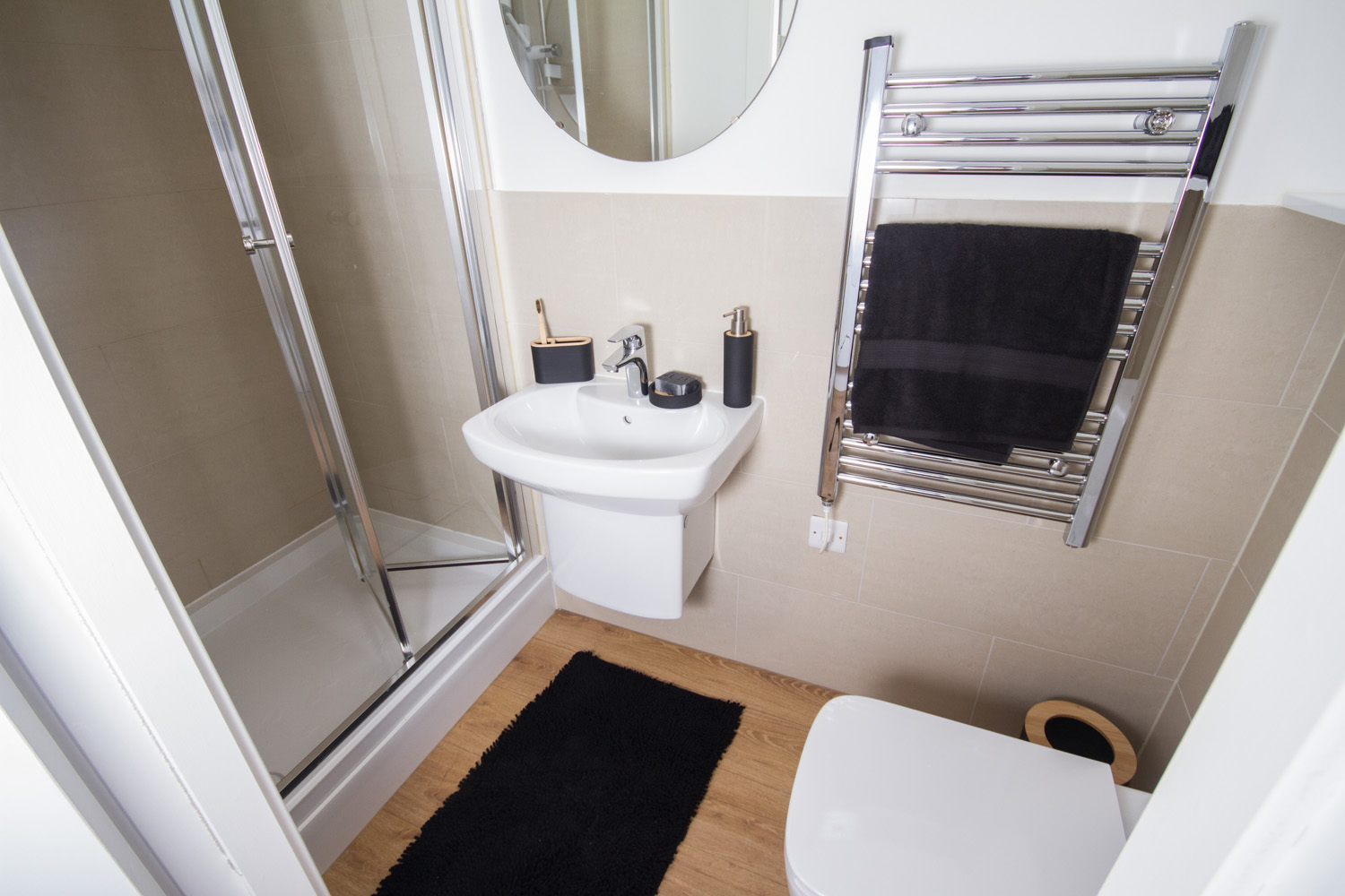 CODE Student Accommodation Standard studio bathroom