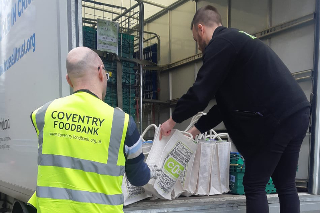 CODE Student Accommodation Coventry donates to Coventry Foodbank