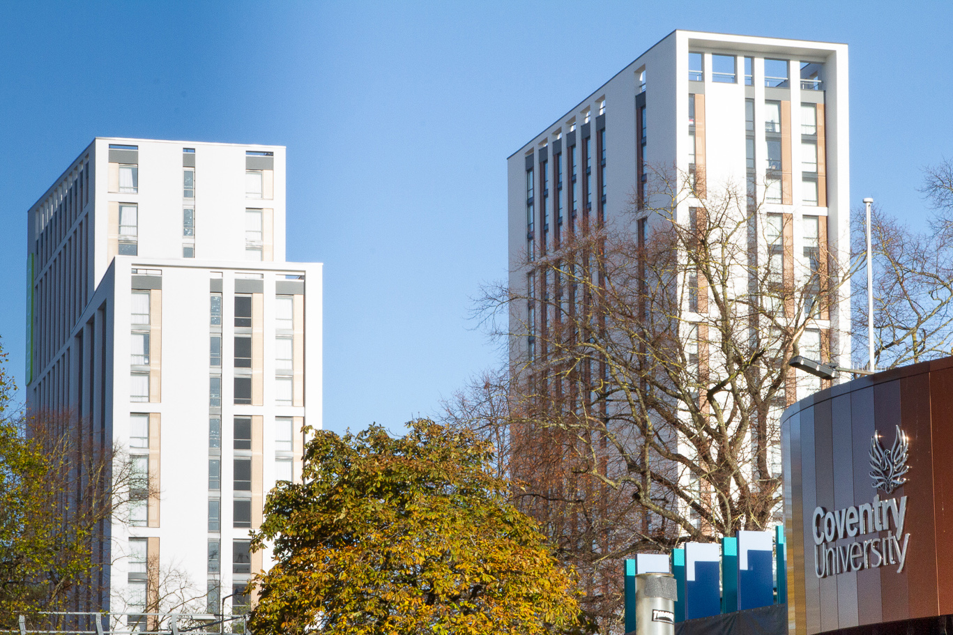 CODE Student Accommodation Coventry building overlooking Coventry University